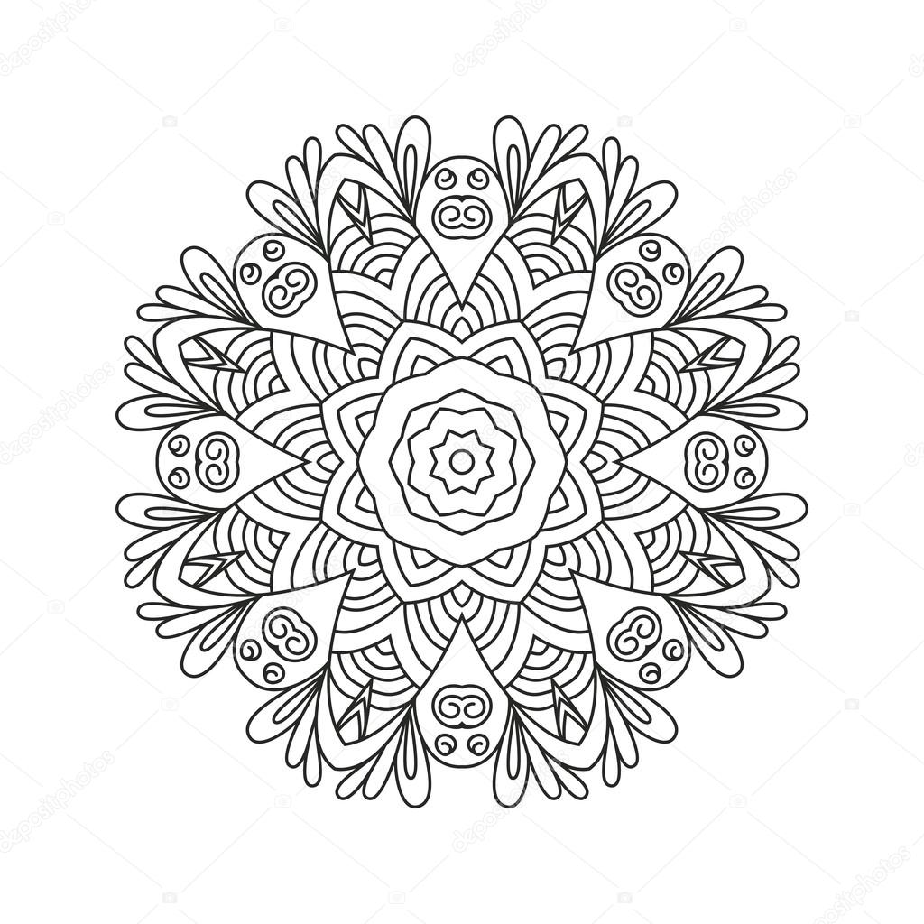 Mandala. Zusammenfassung Hintergrund — Stockvektor © collibri #113772920