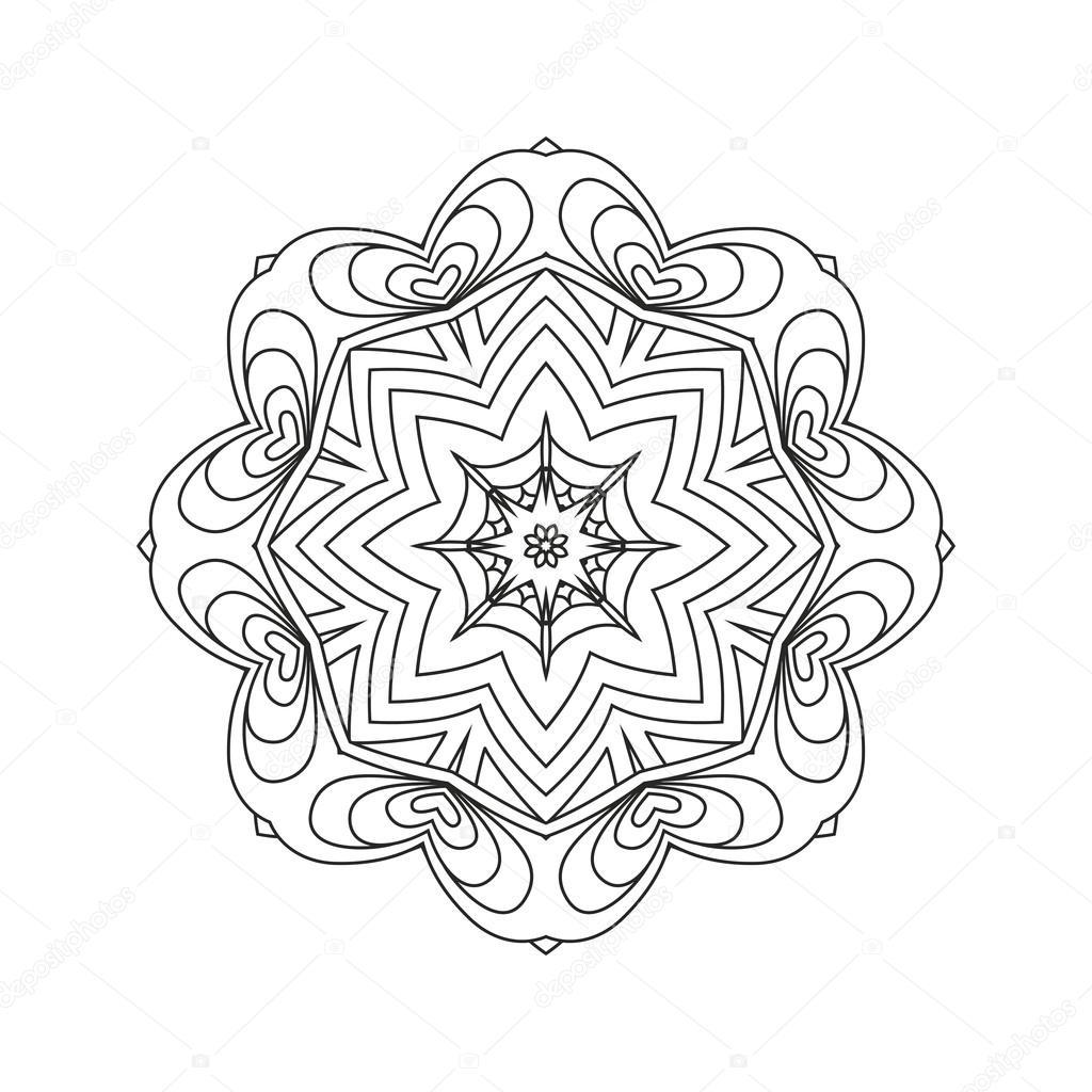 Mandala. Zusammenfassung Hintergrund — Stockvektor © collibri #113772970