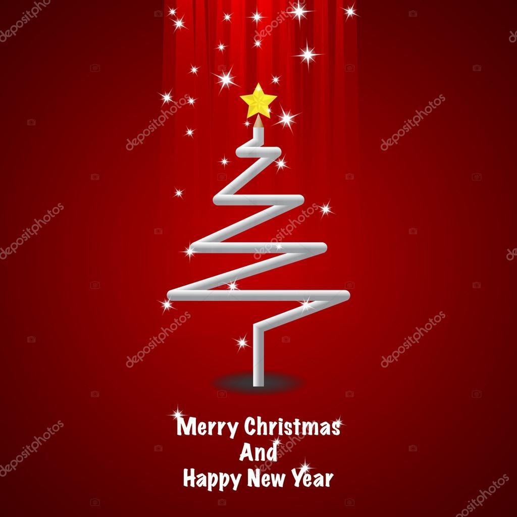 Árbol de Navidad de lápiz de Color — Archivo Imágenes Vectoriales ...