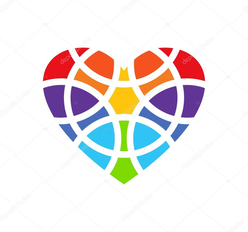 Logo colorato cuore disegno di marchio del cuore for Clipart cuore