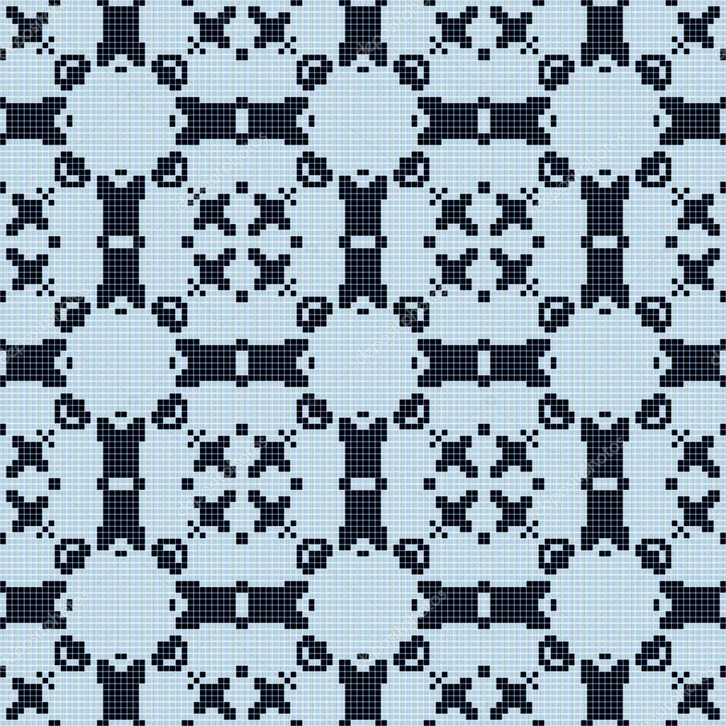 Filet-häkeln-Spitzen-Design. Nahtlose Muster — Stockfoto ...