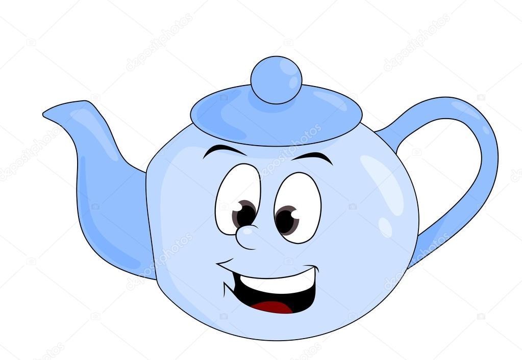 рассмотрении веселый чайник рисунок улавливает пары