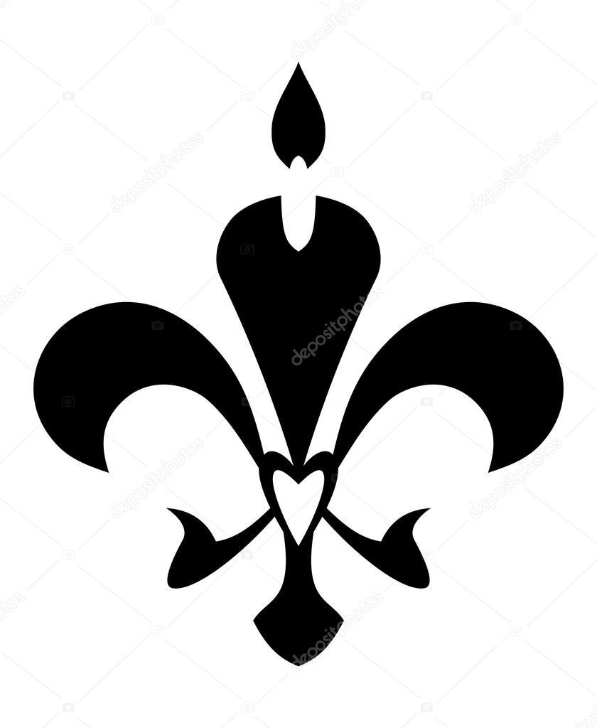 Fleur De Lis Symbol Isolated On White Stock Vector Matahiasek