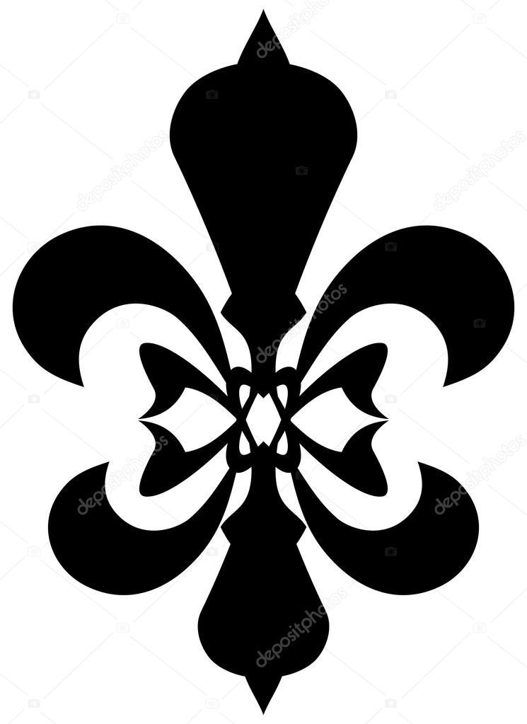 Fleur De Lis Symbol Black Silhouette Stock Vector Matahiasek
