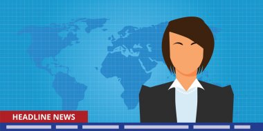 headline or breaking news woman tv reporter presenter
