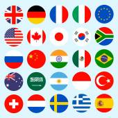 Circle flags vector of the world.