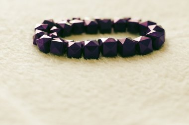Violet plastic bracelet, retro style