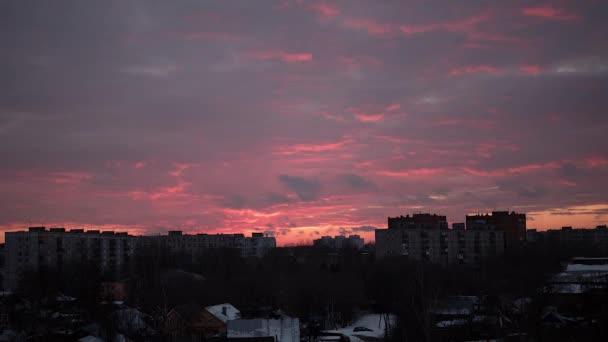 Time-lapse videos. Evening city