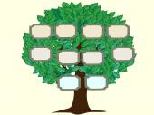Family tree couple vector background