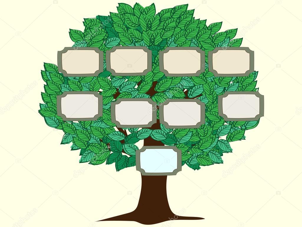 Fondo de vector de árbol de familia de una persona — Archivo ...