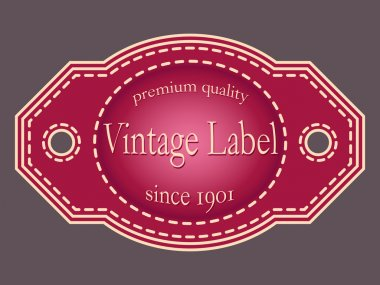 Vector illustration of retro labels.