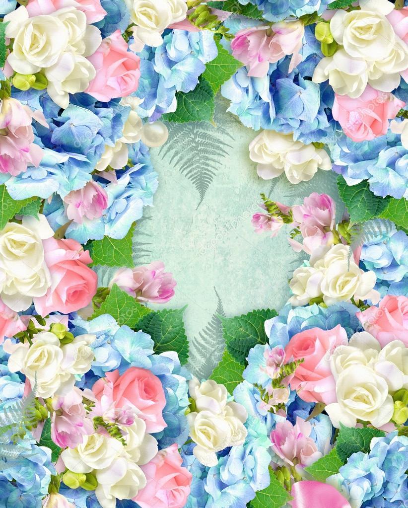 Etiqueta flores de belleza. Elegante cubierta sobre fondo de grunge ...