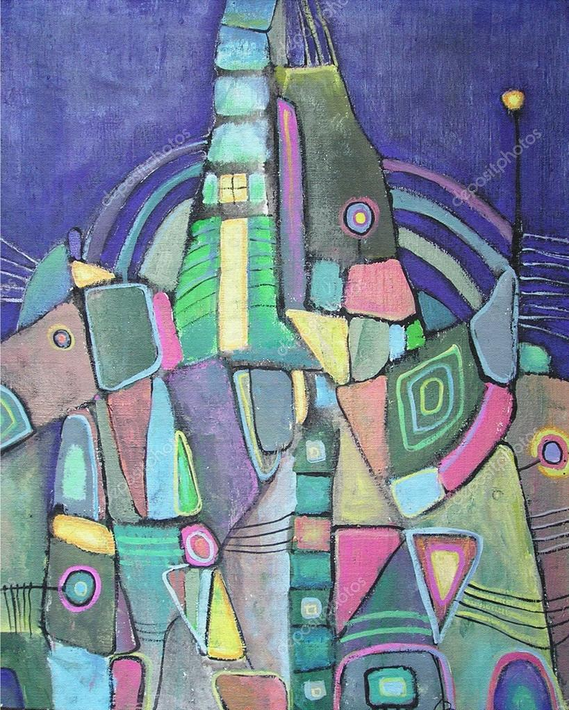 Abstract Art Using Geometric Shapes Abstract Painting With