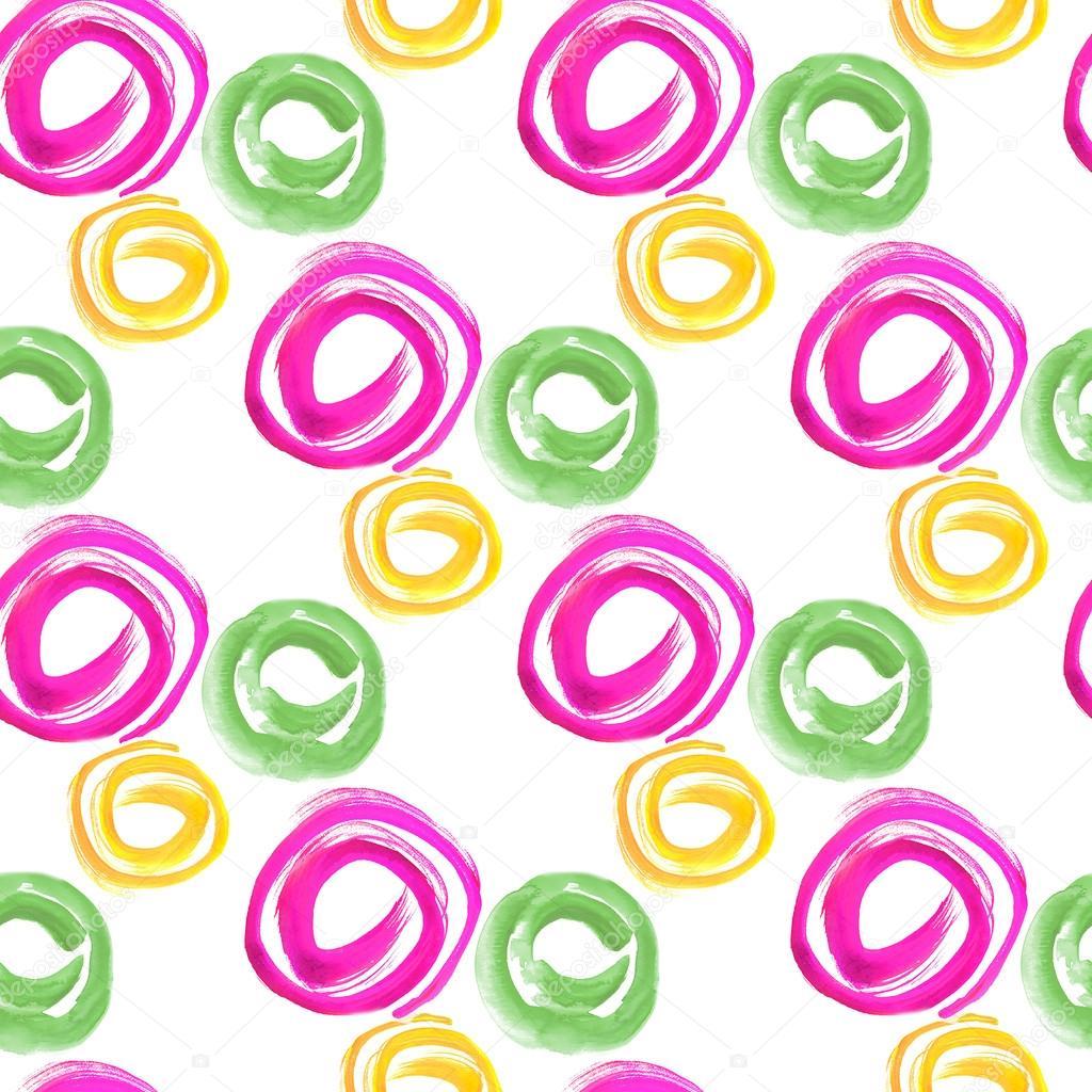 Nahtlose Muster Für Textilien Und Tapeten. Legen Sie Aquarell Geometrische  Formen Im Abstrakten Stil Für Ihr Design. Malerei Farbe Design Elemente  Isoliert ...