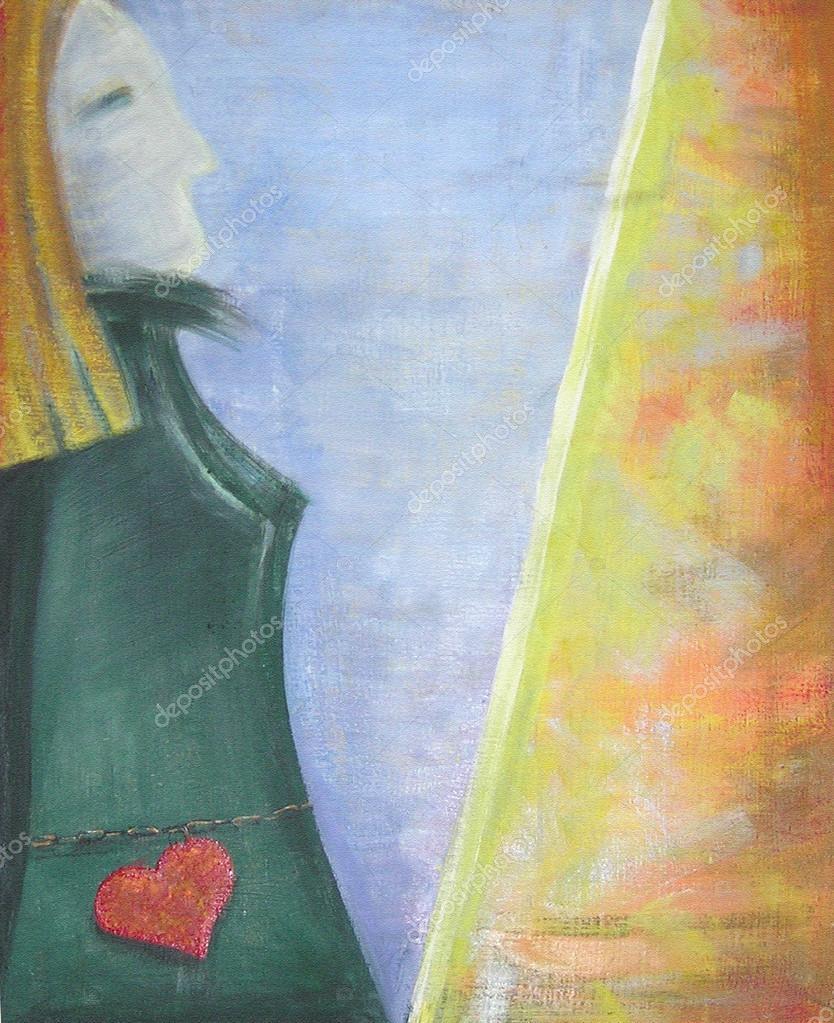 Silhouette de art abstrait peinture acrylique art for Art conceptuel peinture