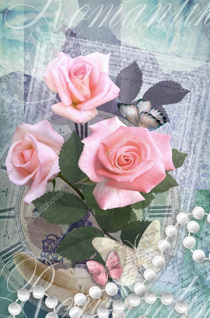 Tarjeta postal flores