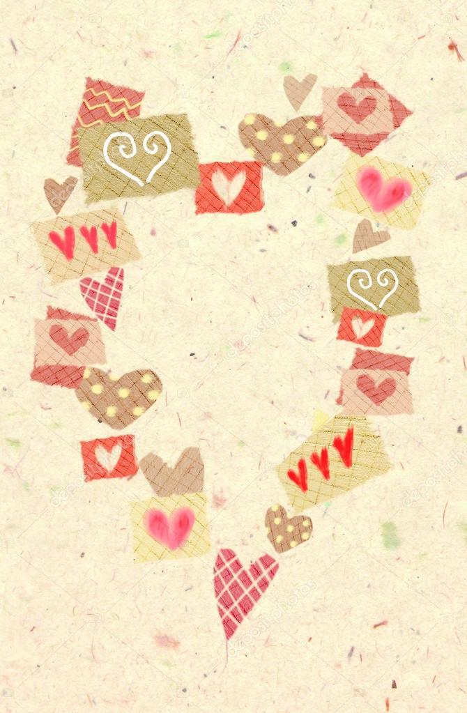 Fotos: fondos para collages de amor | Resumen corazones de corazón ...