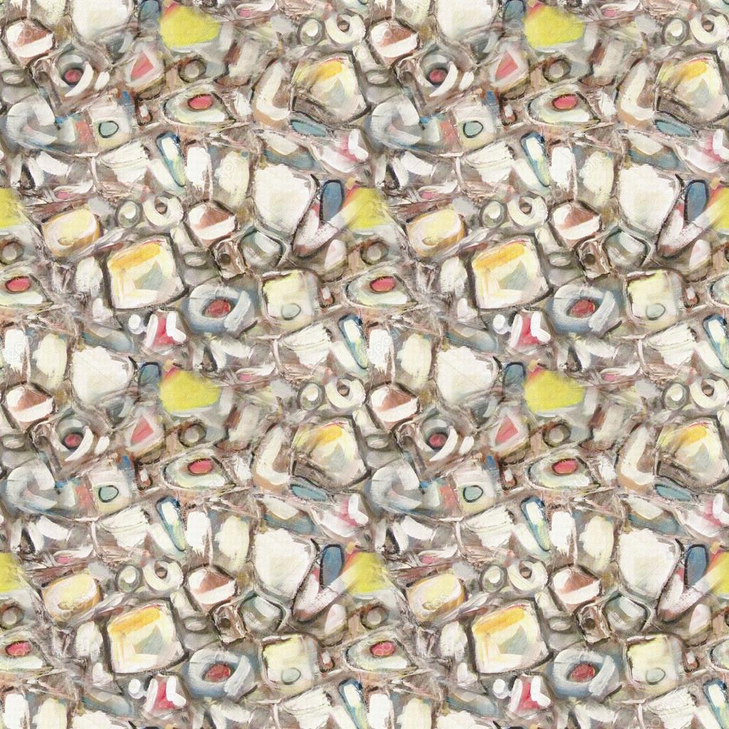 Naadloze edelstenen patroon art abstract achtergrond met oranje bruin en geel blots - Kussen oranje en bruin ...