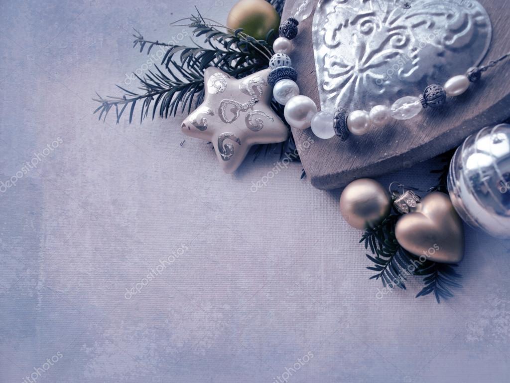 Vorlage von der Weihnachtskarte. Urlaub-Hintergrund mit Stern, Herz ...