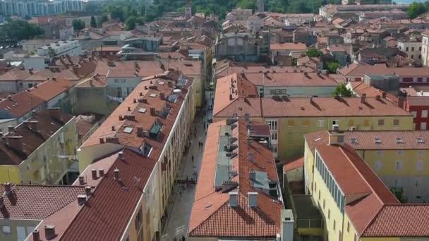 Letecký pohled na město Zadar, Chorvatsko