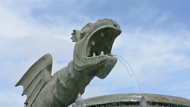 drakem Lindwurm v hlavním náměstí Klagenfurtu
