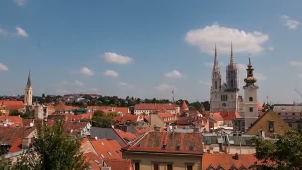 panoramatický pohled na město v Záhřebu