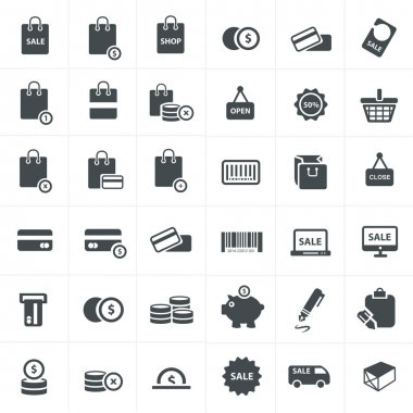 hopping icons Vector Set
