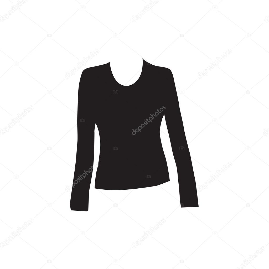e6761789ba53 Chemise à manches longues femmes — Image vectorielle icon-mama ...