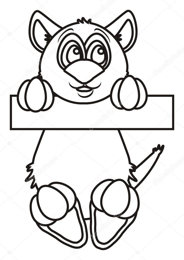 Pata de gato para dibujar | Colorear gato colgado de la barra ...