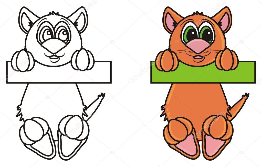 Kleurplaat Met Voorbeeld Van Een Kat Opknoping Op De Dwarsbalk