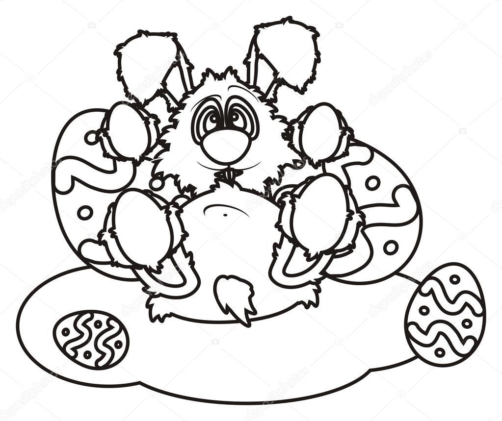 Yumurta Boyama Paskalya Tavşanı Stok Foto Tatty77tatty 102454684