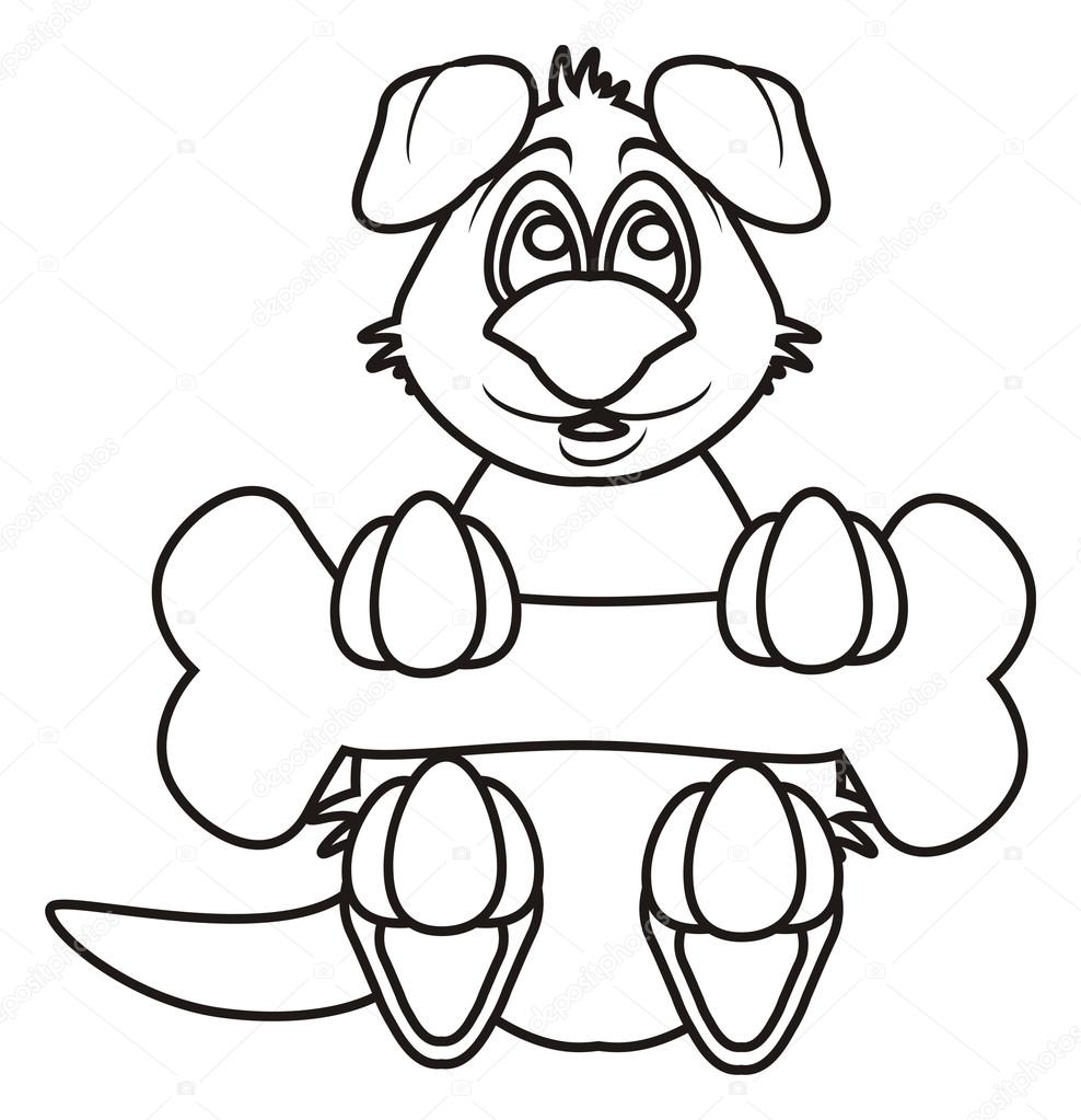 Coloring Dog With A Bone Stock Photo C Tatty77tatty 102456824