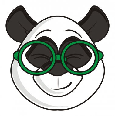 contented muzzle panda glasses