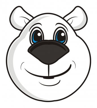 white bear muzzle