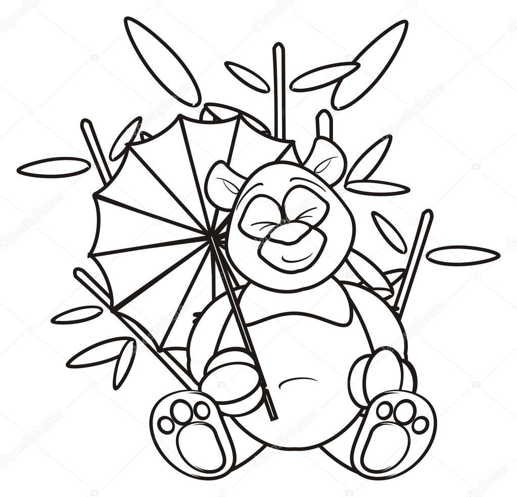 Bir şemsiye Tutan Panda Stok Foto Tatty77tatty 105381916