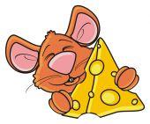 myš drží kus sýra
