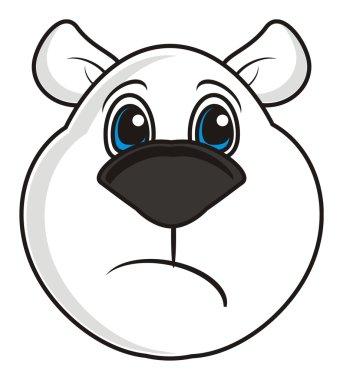 white bear muzzle sad