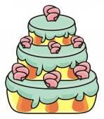 Fotografia three storey cake flowers