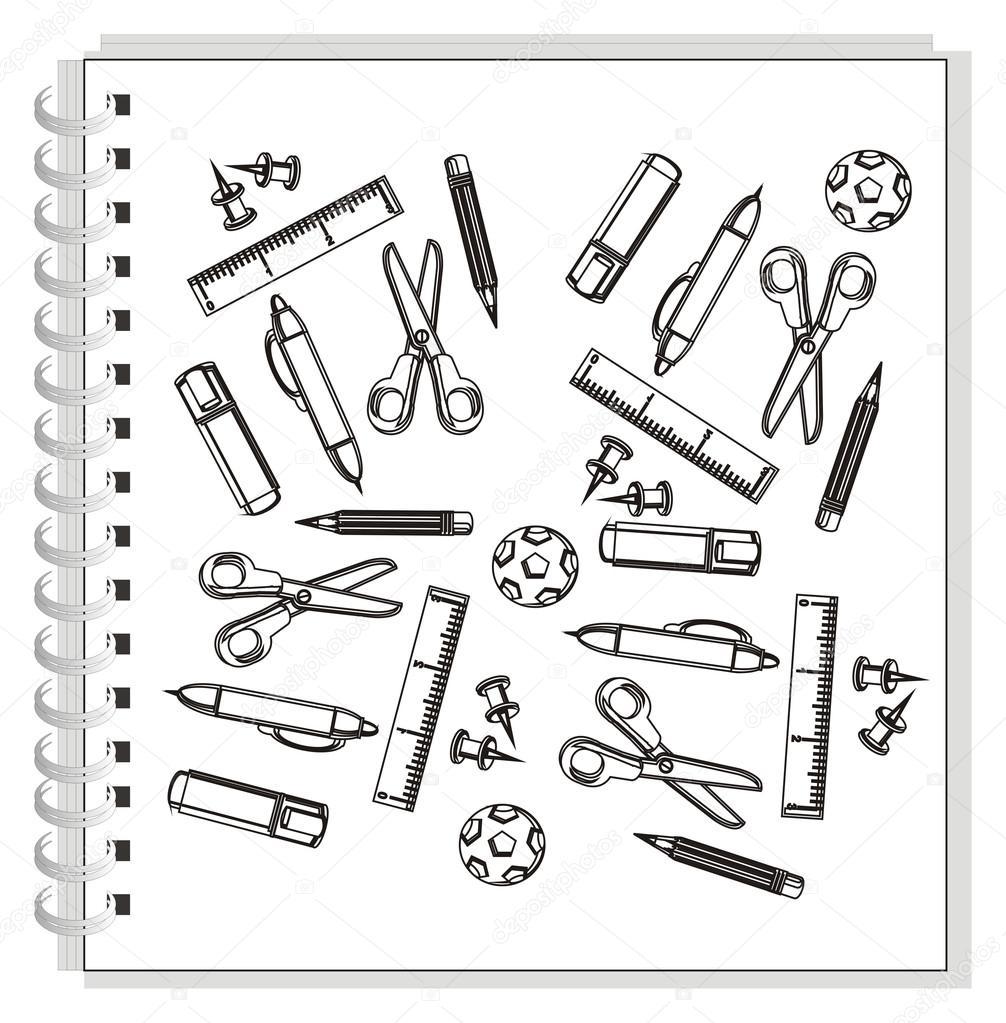 Disegni da colorare molti vari articoli di cancelleria for Disegni di uffici di garage