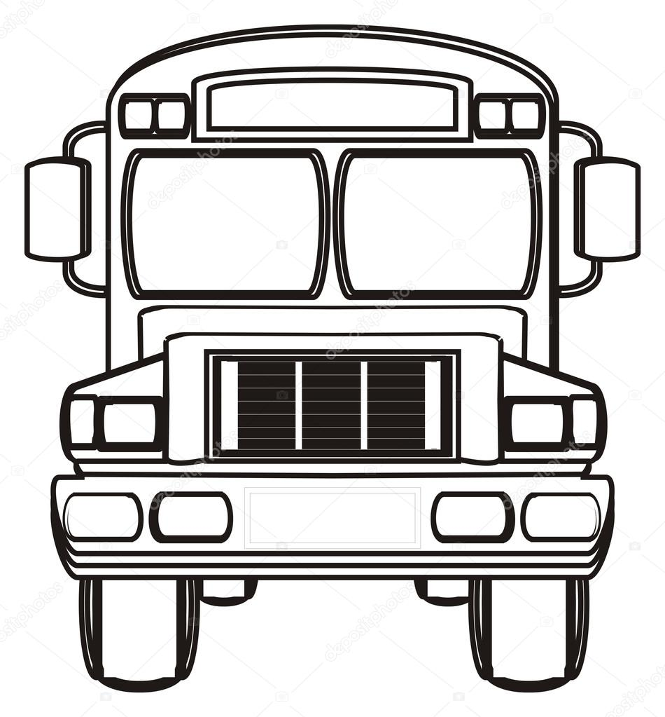 autobús de la escuela para colorear — Foto de stock © tatty77tatty ...