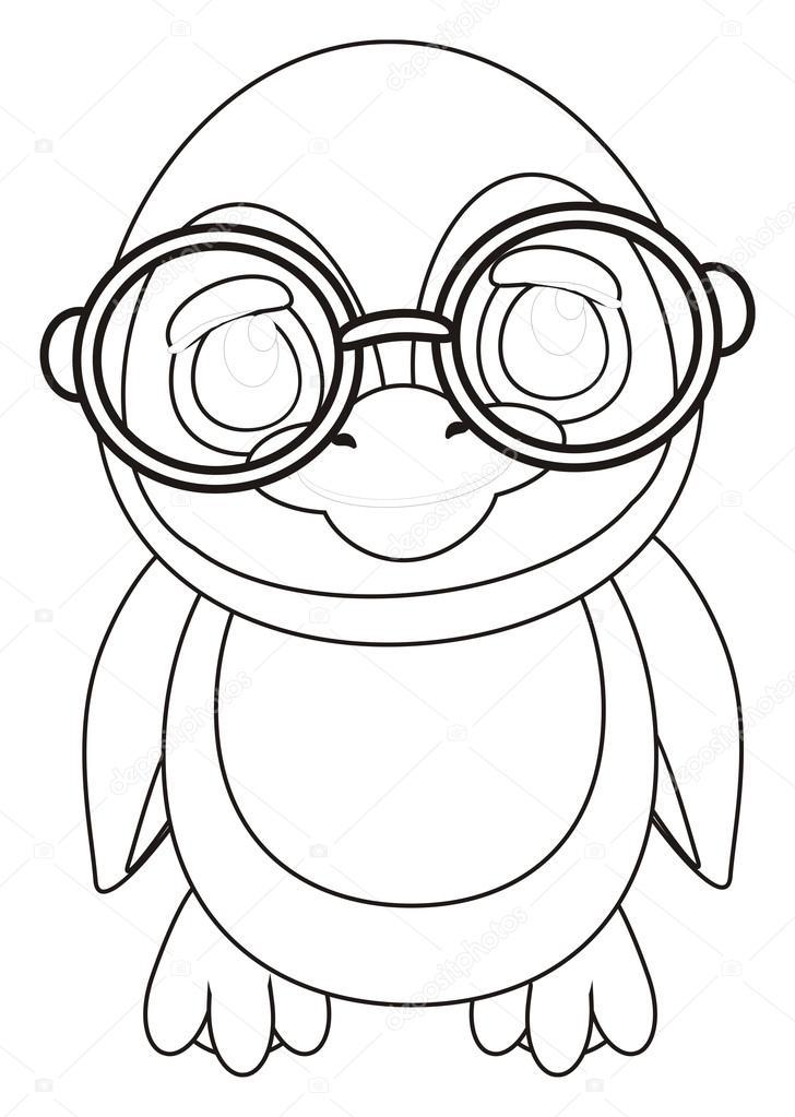 Penguen Gözlük Boyama Stok Foto Tatty77tatty 122645376