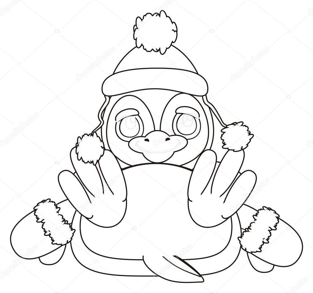Coloring Penguin In The Hat Stock Photo C Tatty77tatty 122656228