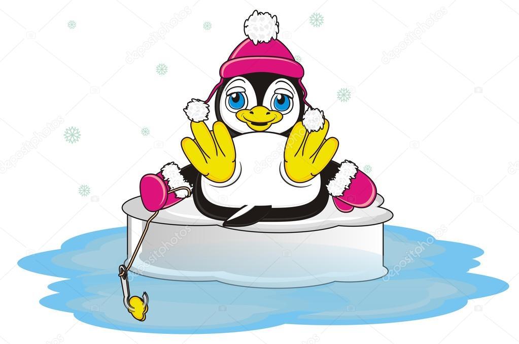 Pinguin Angeln Mit Haken Stockfoto Tatty77tatty 122658060