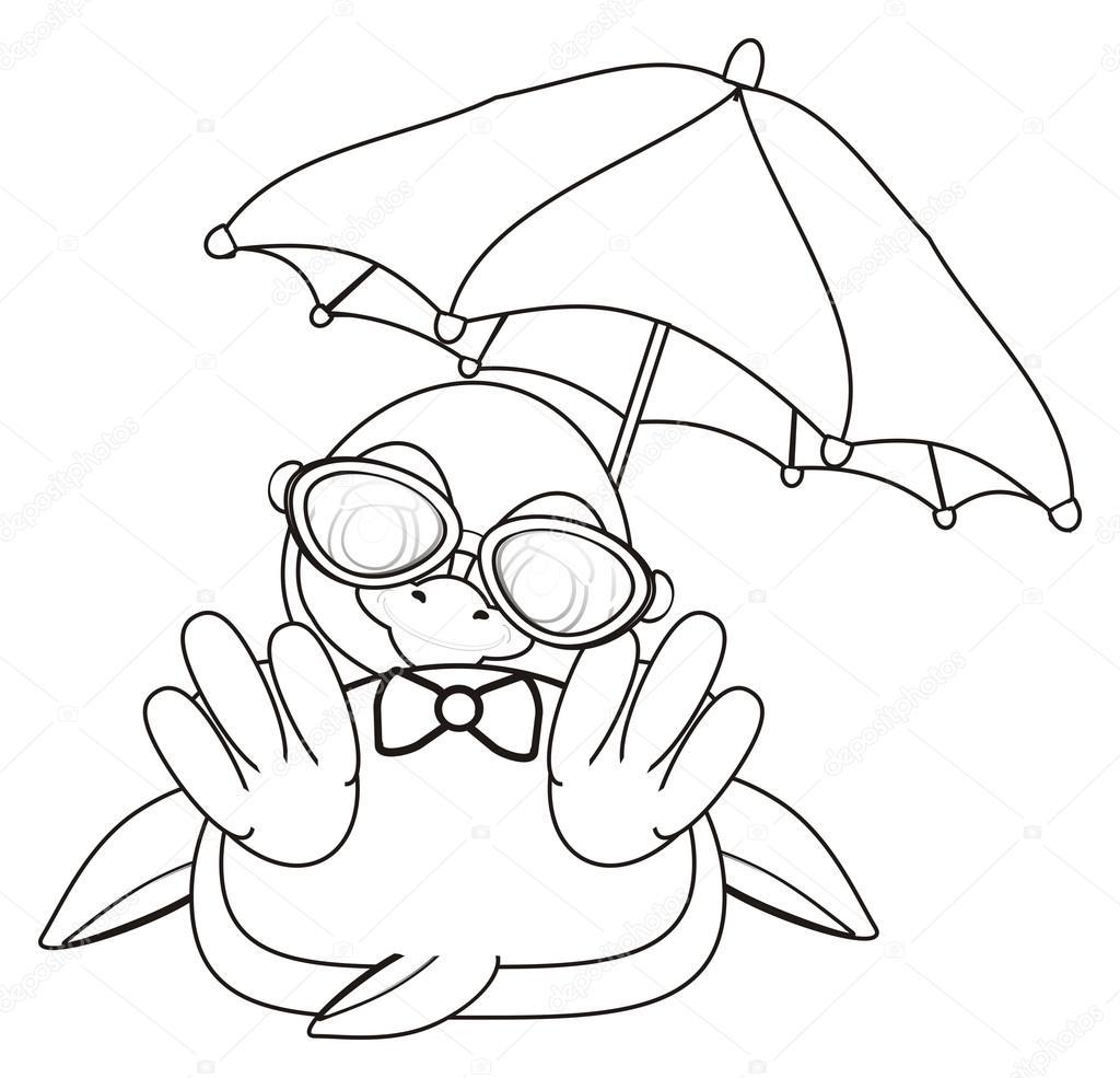 Malvorlagen Pinguin mit Regenschirm — Stockfoto © tatty77tatty ...