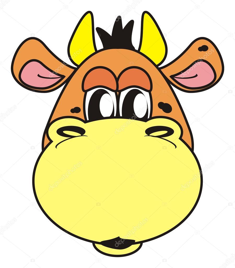 Animal, cartoon, isolated, toy, cow, bull, farm, milk ...