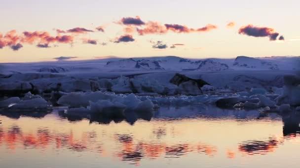 Globale Erwärmung Climate Change Konzept. Eisberge in der Jokulsarlon Gletscher Lagune