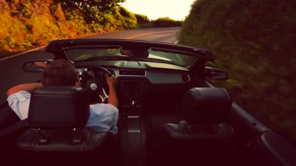 Driving Convertible Country Road