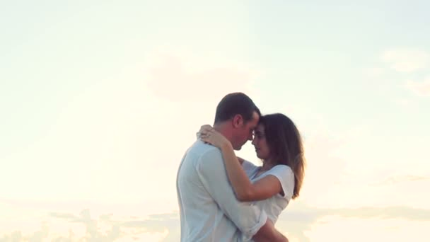 Beautiful Young Couple Kissing. Honeymoon Romance.