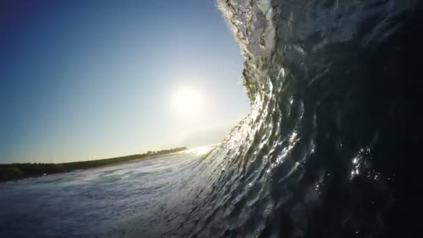 POV Man Surfing Ocean Wave, Extreme Sport HD Slow Motion