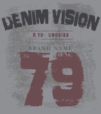 vintage look t-shirt print